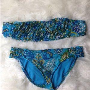 Lucky Brand Bikini Bandeau Swim Set  2Pc size S.